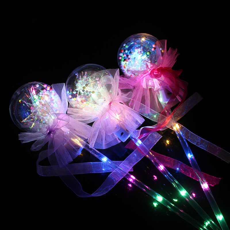 Nuevo estilo LED Fairy Magic Wand ai heart · traah bang brillante Ocean Ball Lace Stick creativo juguete mercado nocturno Venta caliente