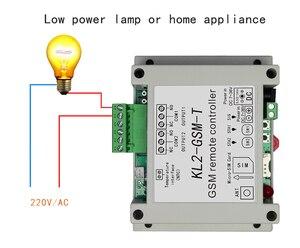 Image 2 - Dual Relais Schakelaar Module GSM Alarm met SMS Controller KL2 GSM T met temperatuursensor voor Licht/Visvijver cultuur/warehousing
