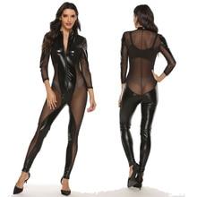 Bodysuit Clubwear Sexy Costume Zipper Game Lace Lady New