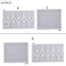 Placa de bruxaria gótica coração pingente resina molde planchette resina molde arte artesanato