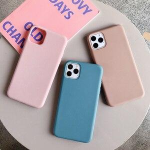 Image 2 - Cho iPhone 11 12 Pro Max 6 6S 7 8 Plus X Xs Max Bao Da Sang Trọng Ban Đầu Mềm Mại ốp Lưng TPU Không Logo Lớp Vỏ Lắp Trường Hợp