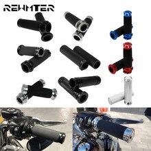 """오토바이 범용 그립 1 """"25mm 핸들 바 손잡이 알루미늄 할리 투어링 글라이드 Dyna Softail VRSC Sportster XL"""