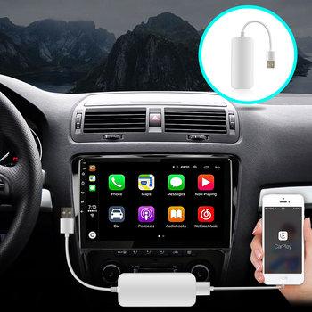 OKNAVI Car Link Dongle Link Dongle uniwersalny Auto Link Dongle odtwarzacz nawigacyjny USB dla Apple Android CarPlay tanie i dobre opinie JUSTNAVI CN (pochodzenie) podwójne złącze DIN NONE 4*45W Android 9 0 VIDEO CD JPEG Metal + plastic 1024*600 1 8kg bluetooth