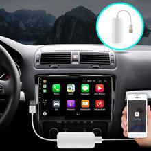 OKNAVI Car Link Dongle Link Dongle uniwersalny Auto Link Dongle odtwarzacz nawigacyjny USB dla Apple Android CarPlay tanie tanio JUSTNAVI CN (pochodzenie) podwójne złącze DIN NONE 4*45W Android 9 0 VIDEO CD JPEG Metal + plastic 1024*600 1 8kg bluetooth