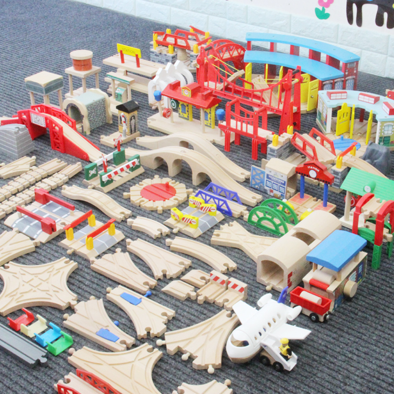 Bulk Rail, Wooden Rail Track Accessories, Scattered Parts, Children's Puzzle Toys Accessories Spare Parts