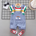 Summer Baby Boys Girls Clothes Sports T-Shirt + Bib Shorts Sets For Newborn Baby Boys Girls Clothing Birthday Sets Infant