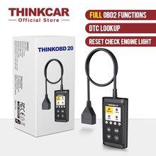Thinkcar thinkobd 20 ferramenta de diagnóstico do carro leitor código automotivo verificar a luz do motor dtc lookup diagnóstico ferramenta obd2 scanner automático
