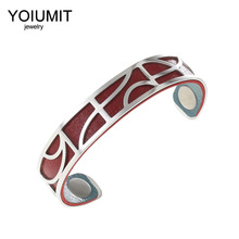 цена на Cremo New Arrivals Stainless Steel Bracelet Bangles For Women Jewelry Delicate Fashion Interchangeable Leather Silver Bangles