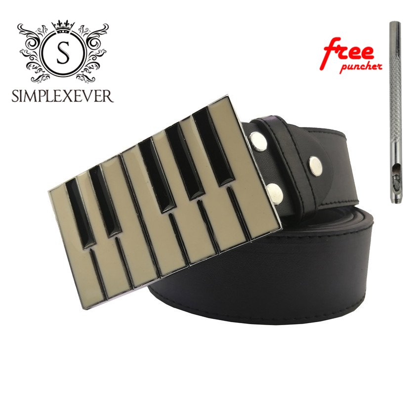 Accordion Metal Cool Belt Buckles For Man Unisex Western Fashion Music Pin Buckle With Leather Belt Dropshipping