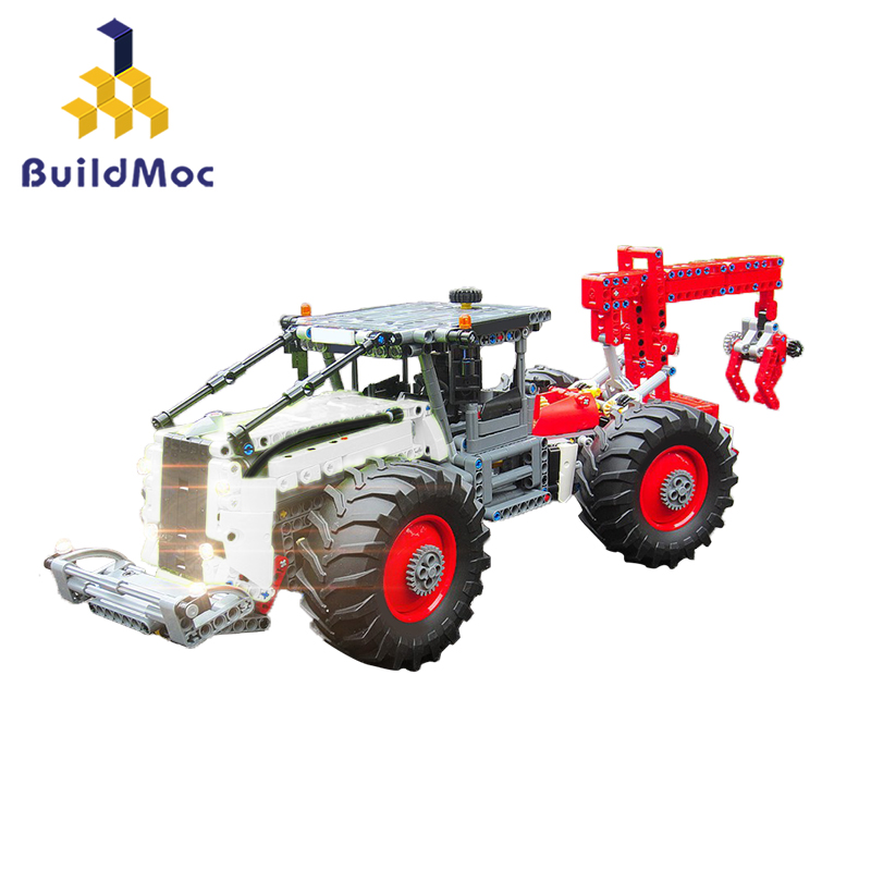 BuildMoc Engineering Forest toy Vehicle 9700 Forest Skidder <font><b>42054</b></font> C MODEL Building LepinBlocks Set Bricks toys image