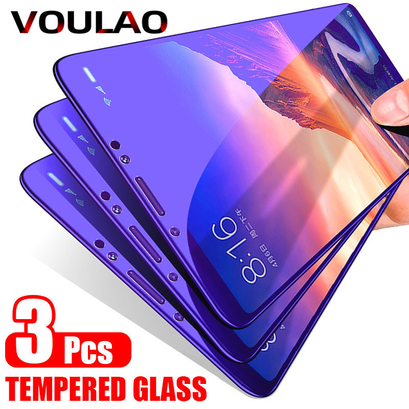 VOULAO 3Pcs Protective Glass For Samsung Galaxy J4 J6 A8 A6 Plus Screen Protector Glass For Samsung J4 J6 A7 A9 A5 Tempered Film