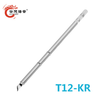 Gudhep T12 Tips KR Welding Tips T12 Soldering Iron Tips for T12 DIY FM203 Soldering Rework Station FM2028 FM2027 Iron Handle image