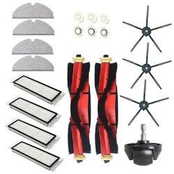 Acessórios para aspirador xiaomi roborock s6 s60 s65, s5 max t6, redução de poeira, pólen e alérgenos, 20 pçs/set