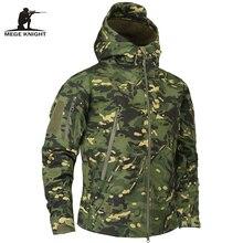 Marchio di Abbigliamento Autunno Mege Mimetica Militare degli uomini di Giacca In Pile Esercito Abbigliamento Tattico Multicam Camouflage Maschio Giacche A Vento