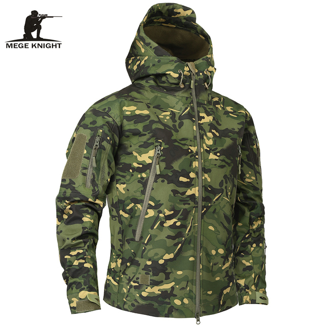 Mege Brand Clothing Autumn Mens Military Camouflage Fleece Jacket Army Tactical Clothing  Multicam Male Camouflage Windbreakers