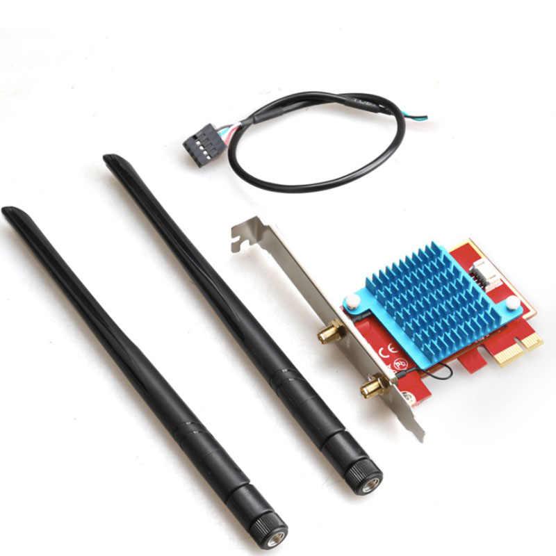 Karta sieciowa PCI-e dwupasmowa 802.11 AX Wifi6 PCI Express Antena Wifi 2.4G / 5G adapter Bluetooth 5.0 bezprzewodowa 3000 mb/s Wifi 6