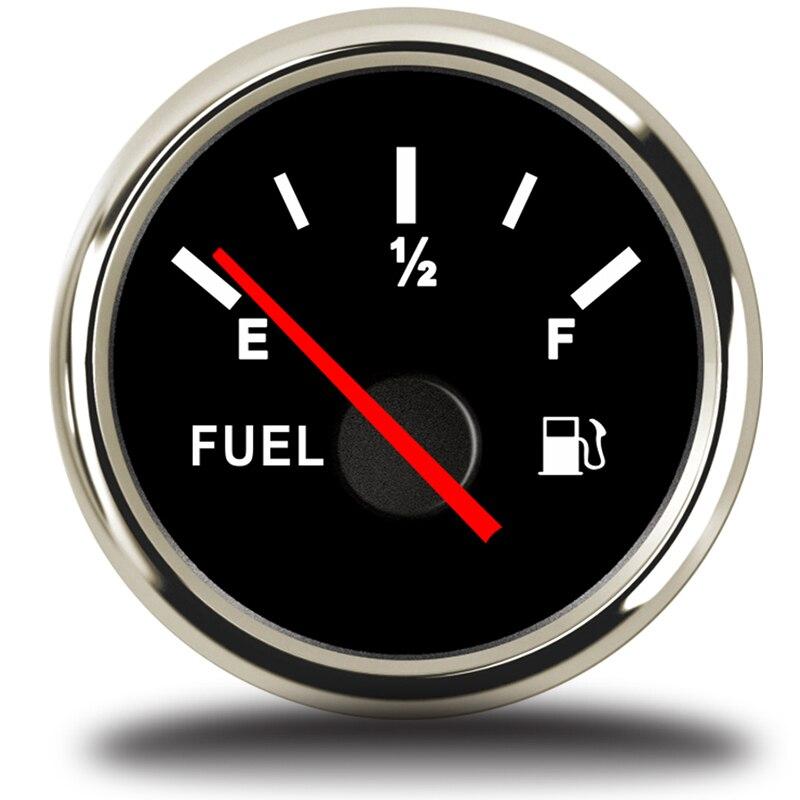 52mm Fuel Level Gauge digital Car Meter auto partes Automotive Gauges 12V 24V for Universal Boat Car Truck RV Camper motorcycle|Fuel Gauges| |  -