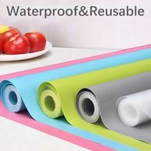 Revêtement d'étagère réutilisable tapis d'armoire tapis de tiroir étanche à l'humidité poussière antidérapant réfrigérateur cuisine tapis de Table en papier