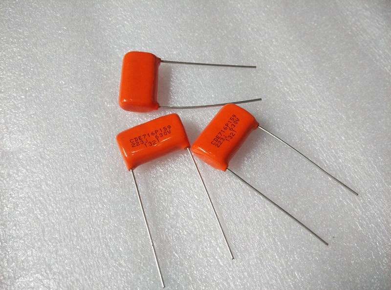 10PCS CDE SPRAGUE CDE716P 630V0.022UF P19MM Orange Fever Film Capacitor MKP SBE 716P 0.022UF 630V 22NF 223/630V