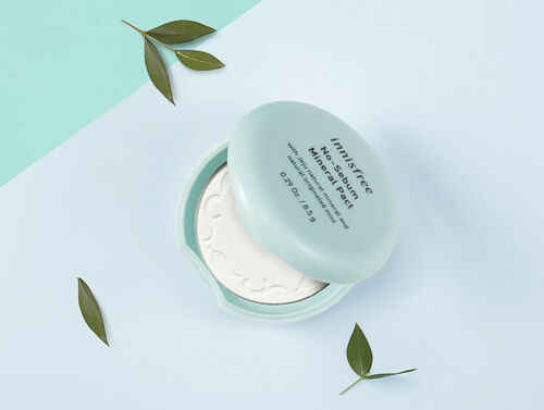 Hiçbir Sebum Mineral Pact 8.5g beyazlatma kapatıcı vakıf yağ kontrolü sıfır yüz baz toz makyaj kore kozmetik