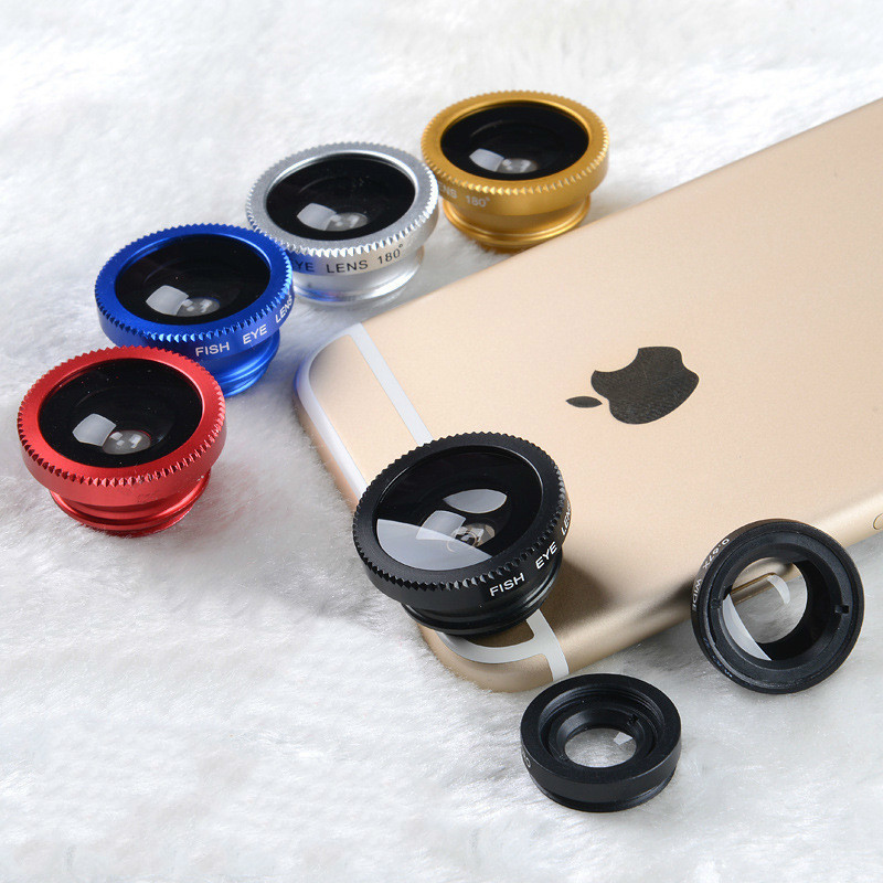 3-in-1 Wide Angle Macro Fisheye Mobile Phone Camera Lens Kits with Clip For iPhone Samsung 5