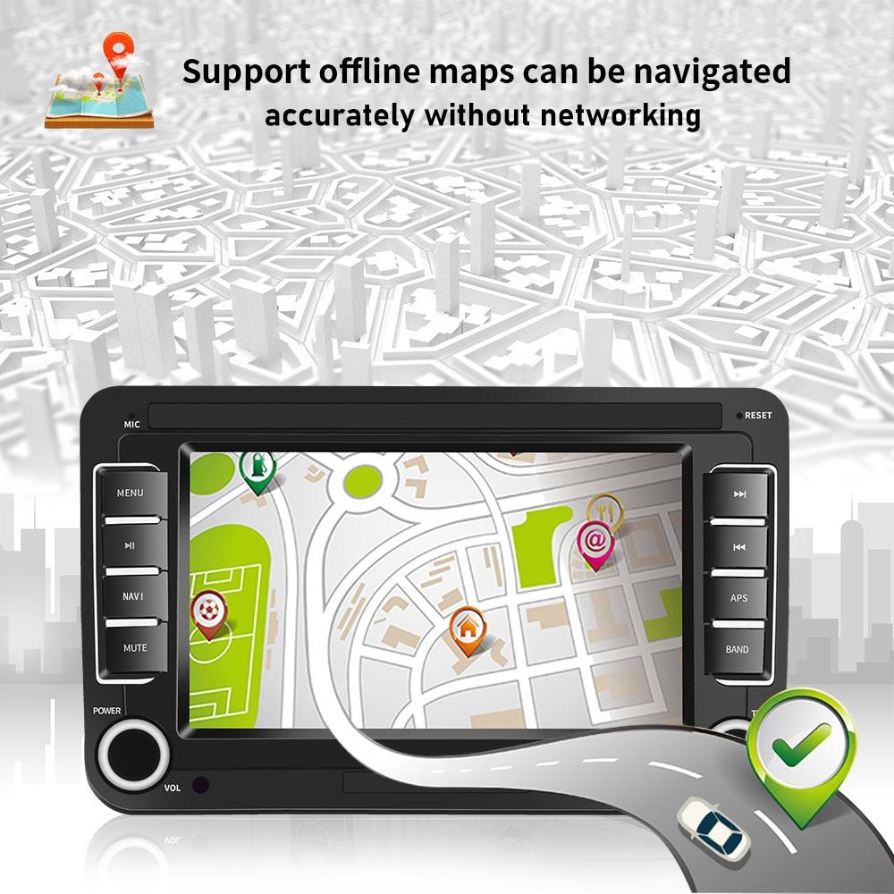AMPrime Android 7 ''2Din GPS автомобильный MP5 мультимедийный видео плеер автомобильное радио Авто Радио стерео аудио для VW/Skoda/Passat/Golf/Poloc