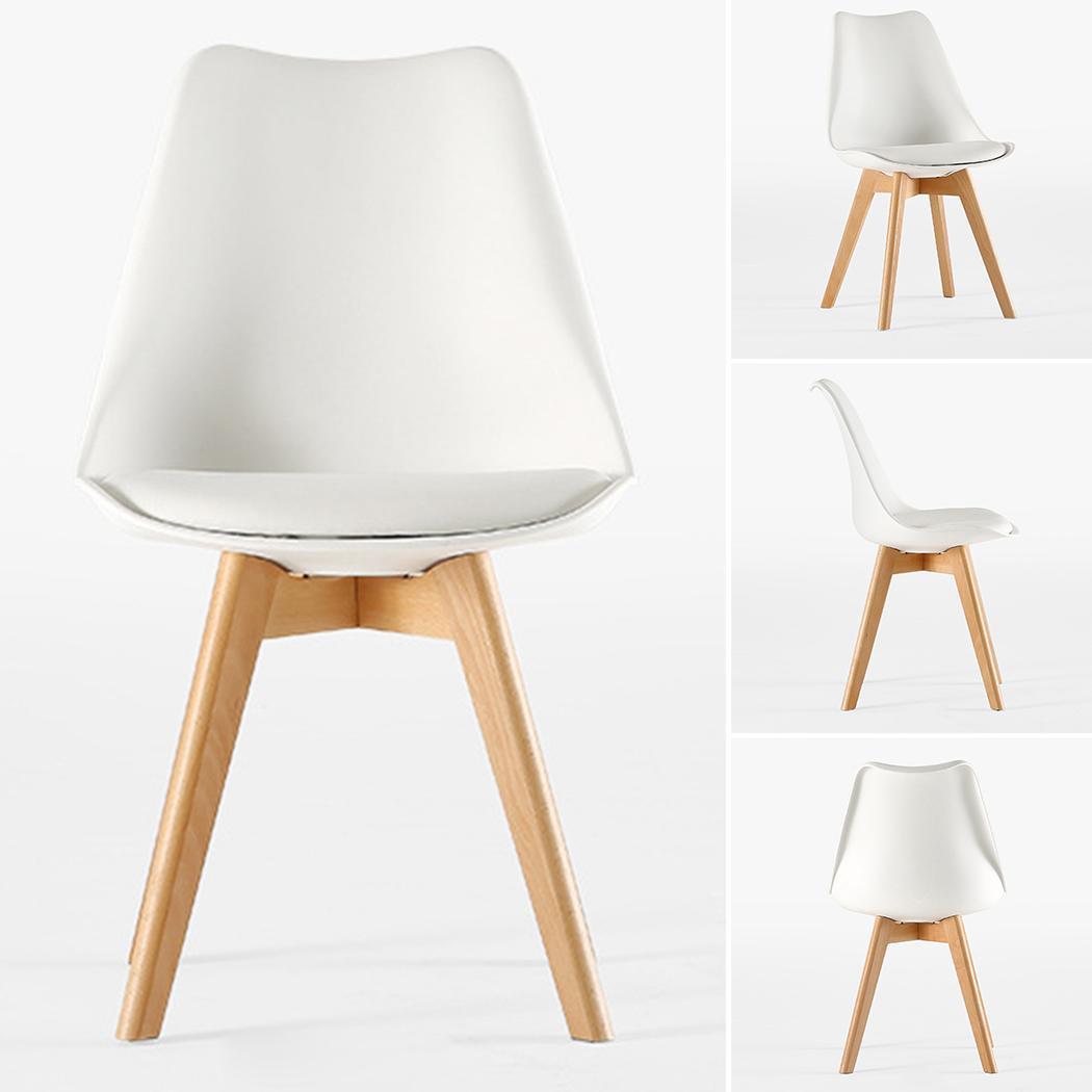 Durable résistant à l'usure confortable dossier chaise mousse éponge maison 300kg blanc bureau maison, chaise