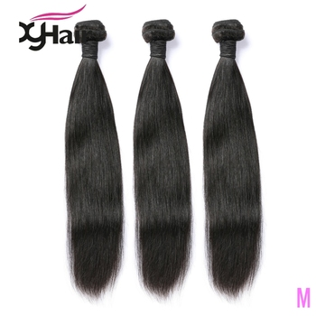 Malaysian Hair Straight Hair Bundles 100% Human Hair 3/4 Bundles Natural Color Remy Hair Extensions 8-24 Inches