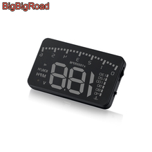 BigBigRoad Car Hud Display Windshield Projector For Mercedes Benz G Class 300 350 400 500 650 BRABUS SL 550