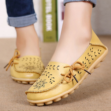 Women Flats Genuine Leather Shoes Woman