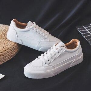 Image 3 - النساء أحذية رياضية أحذية من الجلد الربيع الاتجاه أحذية رياضية غير رسمية الإناث موضة جديدة الراحة الأبيض مبركن أحذية منصة