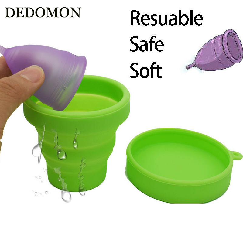 Menstrual Sterilizing Cup Collapsible Silicone Cup flexible …