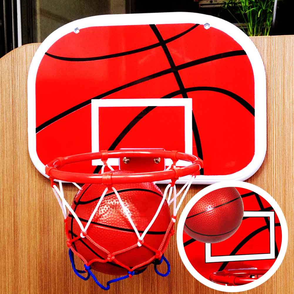 Children With Ball Rebounds Indoor Mini Basketball Hoop Set Shatterproof Backboard Training Office Toy Punch Free Wall Hanging