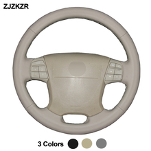 Hand Sewing Car Auto Steering-Wheel Cover For Volvo S80 2009 2008 2007 2006 XC70 2007-2010 V70 2009 Braid on the Steering wheel