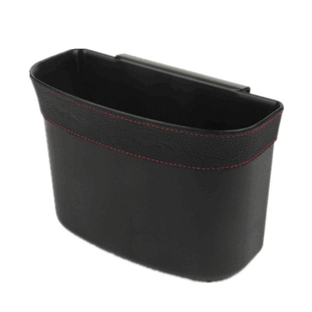 Black Car Trash Can 17*14*7cm Car Garbage Storage Bag Car Decoration Accessories Car Door Trash Bin Trash With A Clip