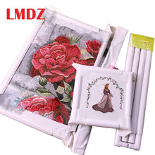 LMDZ Square Shape Embroidery Frame DIY Embroidery Hoop Cross Stitch Craft Tool Handhold Square Rectangle Shape Hoop