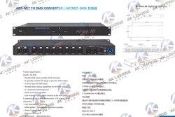 1pc Artnet kontroler dmx 8 konwerter portów wyjście 8x512 4096 kanałów dla Satge oświetlenie dj Contro 512 kanał * 8 portów wyjście