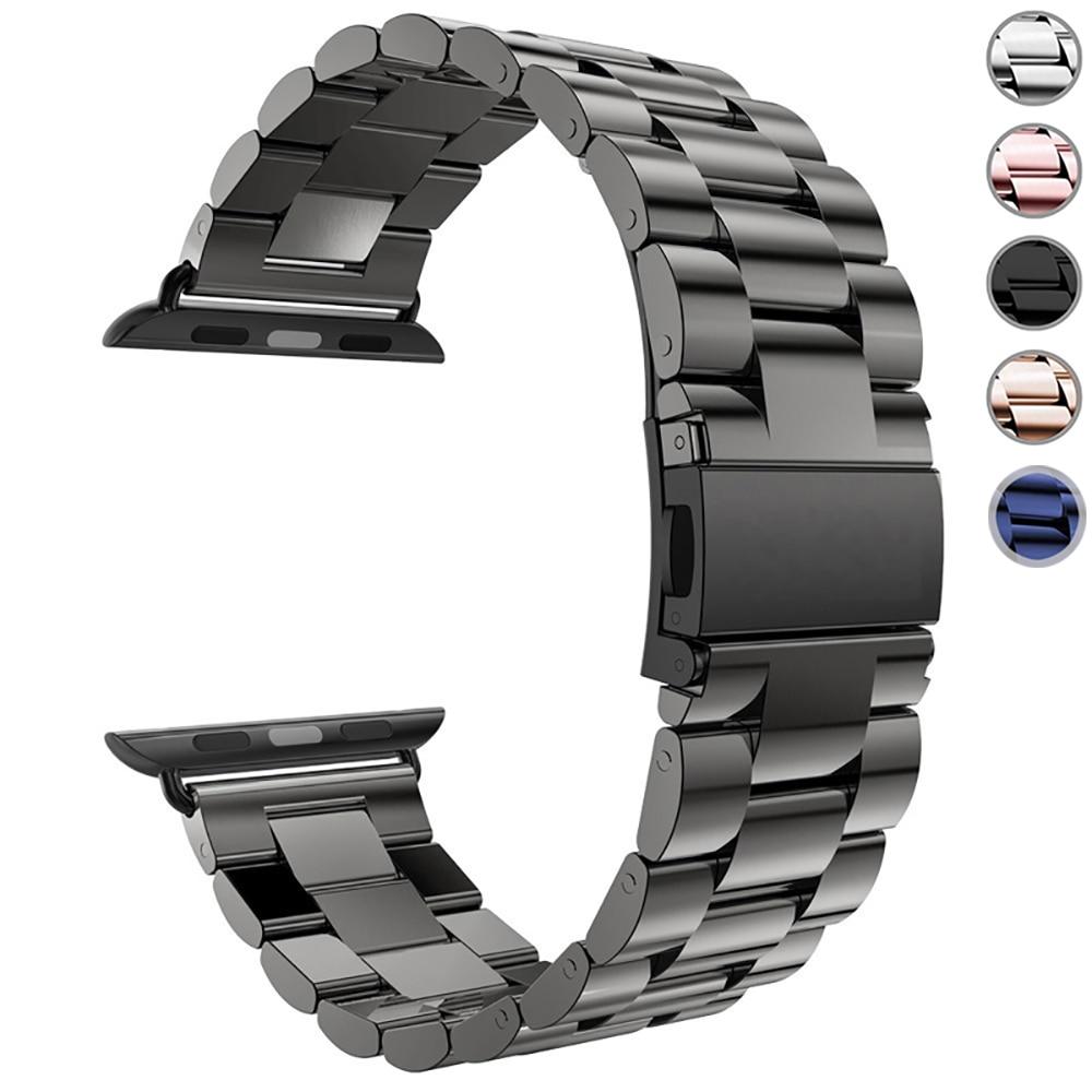 Bracelet en acier inoxydable pour Apple Watch 5 4 3 2 1 Bracelet 38mm 42mm Bracelet Sport pour iWatch série 5 4 3/2/1 40mm 44mm Bracelet
