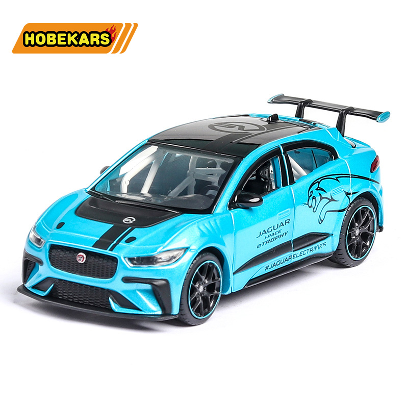 High Simulation Jaguar I-PACE 1:36 Diecast Model Toy Car Metal Alloy Pull Back Cars Toys Vehicles For Kids Gifts For Children