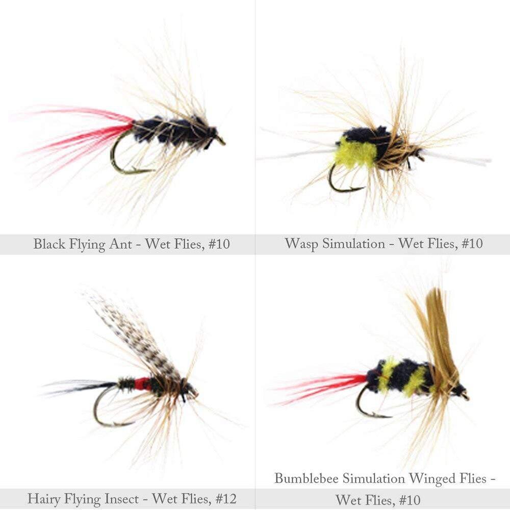 insetos diferentes estilo salmão moscas truta único