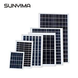 SUNYIMA6V 3W/6W/10W/15W/18W панели солнечных батарей, перезаряжаемые Фотоэлектрические платы в сборе, полисиликоновые панели солнечных батарей, уличны...