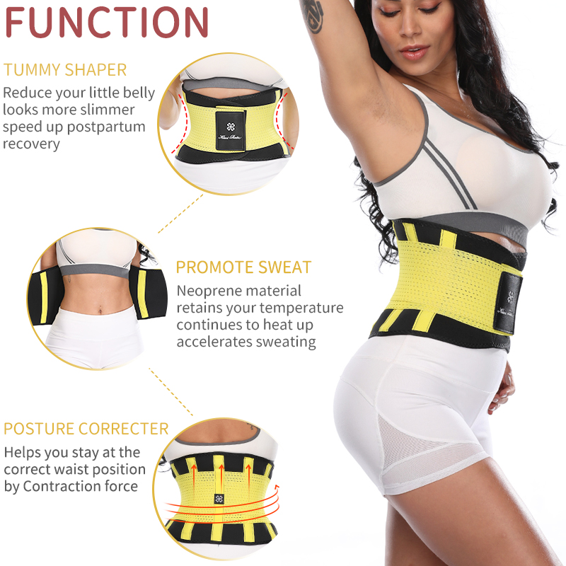 Hot Slimming Waist Trainer Trimmer Fitness Corset Stomach Trainers,Red,XL