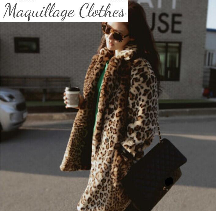 High qaulity leopard faux fur coat Fashion woman's winter super soft fur coat New Fall/winter warmed overcoat M-4XL option