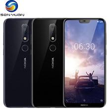 Orijinal Nokia 6.1 artı çift Sim LTE 4G Unlocked cep telefonu = = = = = = = = = = = = Nokia X6 5.8 ''16MP 4G + 64G ROM yenilenmiş Android akıllı telefon