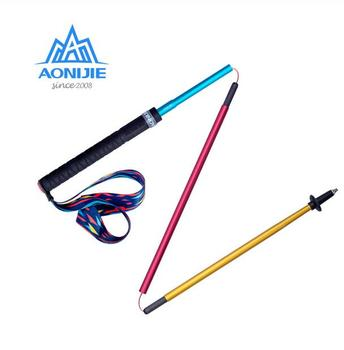 AONIJIE Lightweight Folding Walking Sticks Carbon Fiber Ultralight Hiking Canes Folding Collapsible Quick Lock For Outdoor Trail