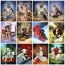 HUACAN 5D Diamond Painting New Arrival Dog Home Decor Full Square Mosaic Animal Diamond Art Embroidery Sale(China)