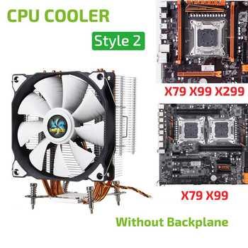 4 Copper Heatpipes CPU Cooler Cooling Quiet 12CM Cooler Fan Heatsink Radiator Cooler for 775 115x 1366 X58 X79 2011 X99 X299