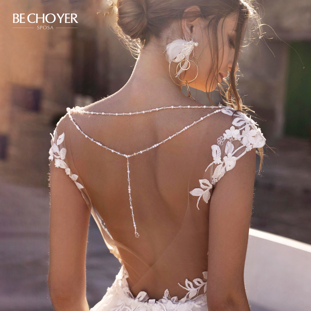 Sexy Beaded Backless Wedding Dress Sweetheart Appliques Detachable Train Princess BE CHOYER N130 Bride Gown Vestido De Noiva