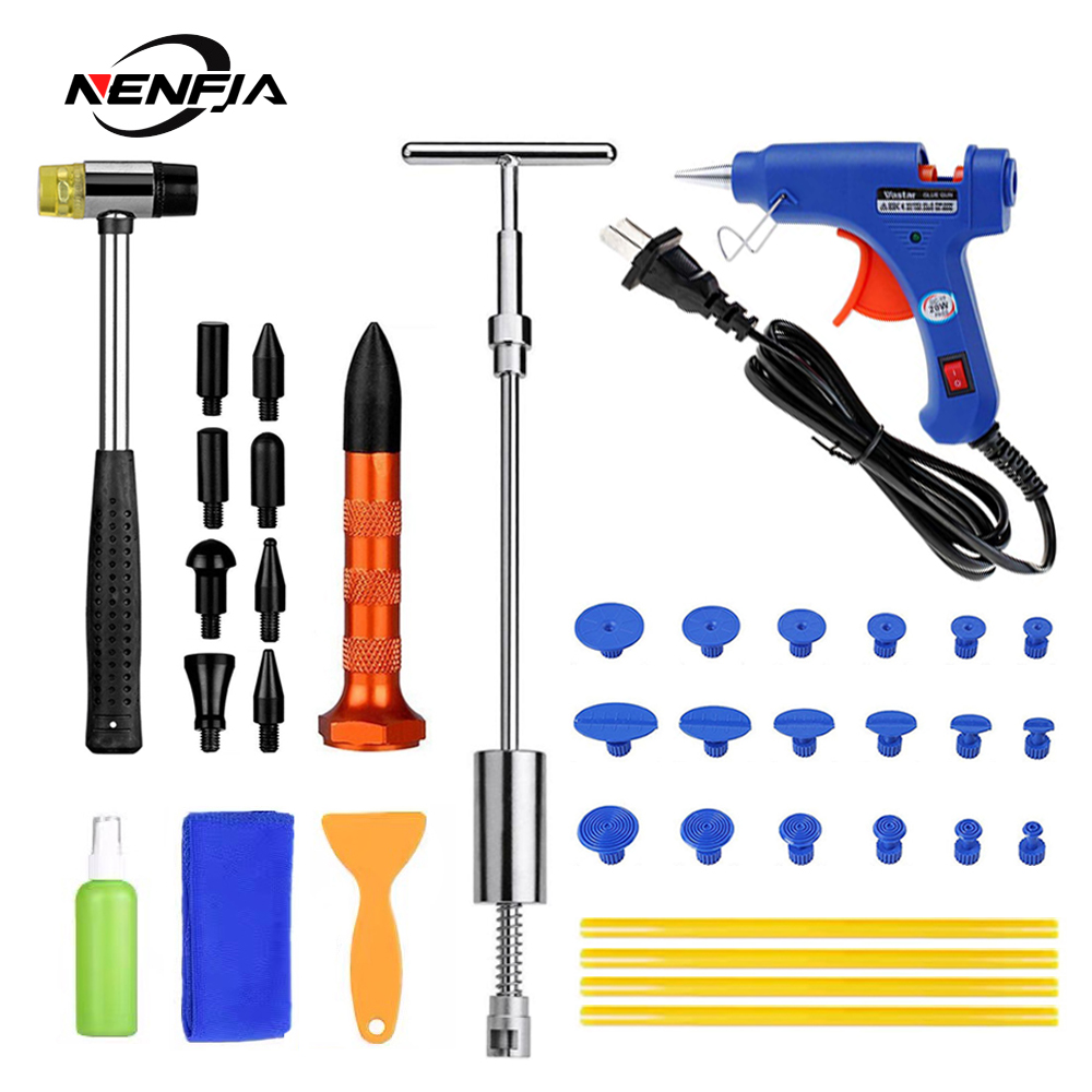 Car Paintless Dent Repair Tool Auto Dent Puller Suction Cup Car Body Dent Damage Repair Hand Tool Pulling Bridge Hammer