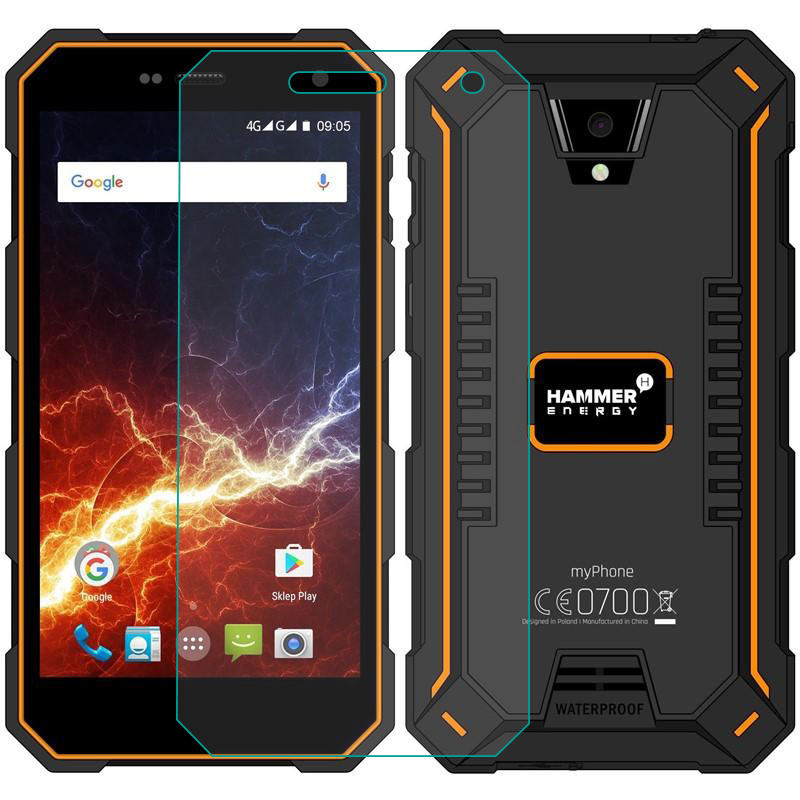 Tempered Glass For MyPhone Hammer Energy GLASS 9H 2.5D Protective Film Explosion-proof Clear LCD Screen Protector Phone Cover